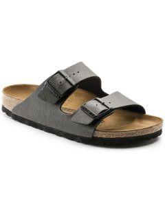 BIRKENSTOCK Arizona Birko-Flor Unisex Regular Width Sandals in Pull Up Anthracite