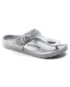 BIRKENSTOCK Gizeh EVA Kids Narrow Width Sandals in Silver