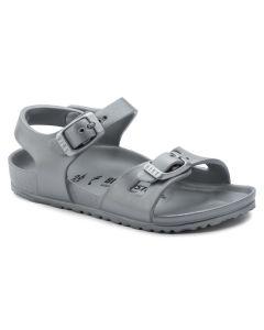 BIRKENSTOCK Rio EVA Kids Narrow Width Sandals in Silver