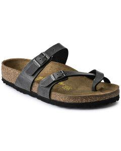 BIRKENSTOCK Mayari Birko-Flor Unisex Regular Width Sandals in Pull Up Anthracite
