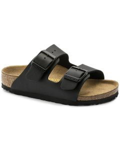 BIRKENSTOCK Arizona Birko-Flor Kids Regular Width Sandals in Black