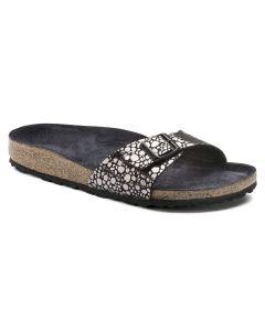 BIRKENSTOCK Madrid Birko-Flor Women's Regular Width Sandals in Metallic Stones Black