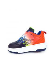 HEELYS Pop Aero Roller Sneaker in Navy/Orange/Blue Flame