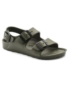 BIRKENSTOCK Milano Kids Essentials EVA Narrow Width Sandals in Khaki