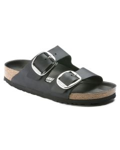 BIRKENSTOCK Arizona Big Buckle Oiled Leather Men's Regular Width Sandals in Black