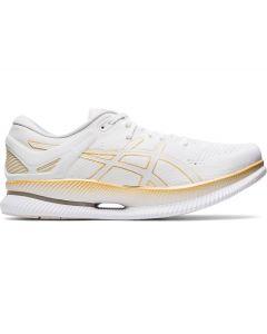 ASICS METARIDE Men's Running Shoe in White/Pure Gold