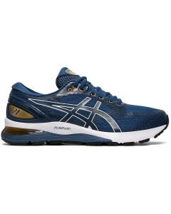 ASICS GEL-NIMBUS 21 Men's Running Shoe in Mako Blue/Black