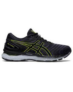ASICS GEL-NIMBUS 22 Men's Running Shoe Standard Width in Carrier Grey/Lime Zest