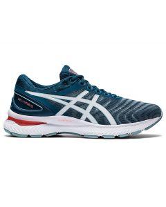 ASICS GEL-NIMBUS 22 (2E) Men's Running Shoe in Light Steel/Magnetic Blue