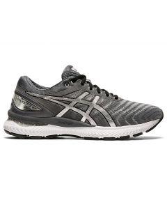 ASICS GEL-NIMBUS 22 PLATINUM Men's Running Shoe in Carrier Grey/Pure Silver