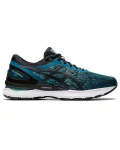 ASICS GEL-NIMBUS 22 KNIT Men's Running Shoe in Magnetic Blue/Black
