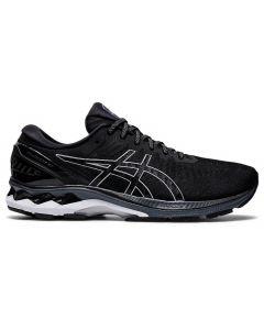 ASICS GEL-KAYANO 27 Men's Running Shoe Wide Width in Black/Pure Silver