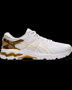 ASICS GEL-KAYANO 26 PLATINUM Men's Running Shoe in White/Pure Gold