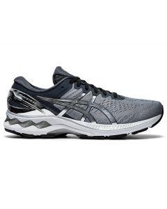 ASICS GEL-KAYANO 27 PLATINUM Men's Running Shoe in Sheet Rock/Pure Silver