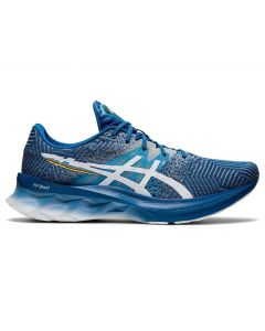 ASICS NOVABLAST Men's Running Shoe in Reborn Blue/White
