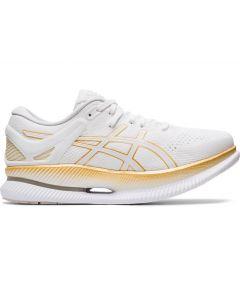 ASICS METARIDE Women's Running Shoe in White/Pure Gold