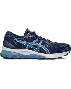 ASICS GEL-NIMBUS 21 Women's Running Shoe in Blue Expanse/Grey Floss