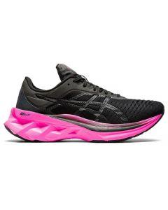 ASICS NOVABLAST Women's Running Shoe Standard Width in Black/Pink Glo
