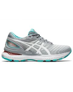 ASICS GEL-NIMBUS 22 Women's Running Shoe in Sheet Rock/White