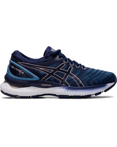 ASICS GEL-NIMBUS 22 Women's Running Shoe in Grey Floss/Peacoat