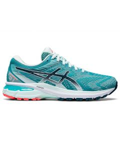 ASICS GT-2000 8 (D WIDE) Women's Running Shoe in Techno Cyan/Magnetic Blue