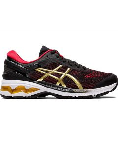 ASICS GEL-KAYANO 26 Women's Running Shoe in Black/Pure Gold