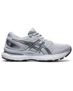 ASICS GEL-NIMBUS 22 PLATINUM Women's Running Shoe in Piedmont Grey/Pure Silver