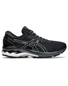 ASICS GEL-KAYANO 27 (D) Women's Running Shoe Wide Width in Black/Pure Silver
