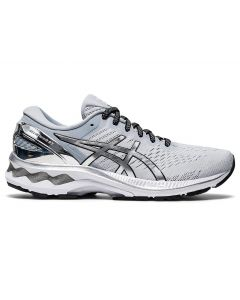 ASICS GEL-KAYANO 27 PLATINUM Women's Running Shoe in Glacier Grey/Pure Silver