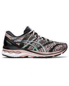 ASICS GEL-KAYANO 27 THE NEW STRONG Women's Running Shoe in Black/Ginger Peach