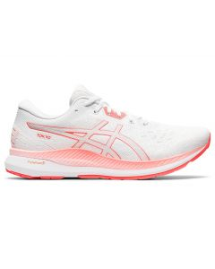 ASICS EVORIDE TOKYO Women's Running Shoe in White/Sunrise Red
