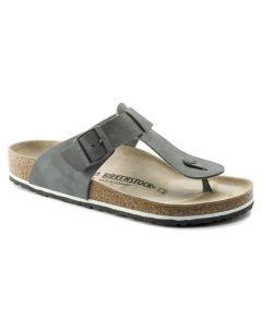 BIRKENSTOCK Medina Birko-Flor Unisex Regular Width Sandals in Desert Soil Gray