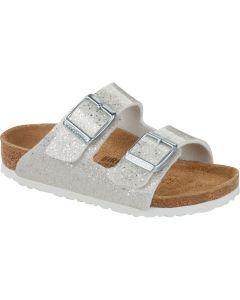 BIRKENSTOCK Arizona Birko-Flor Women's Regular Width Sandals in Cosmic Sparkle White
