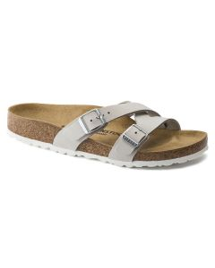 BIRKENSTOCK Yao Nubuck Leather Women's Regular width Sandals in Mineral