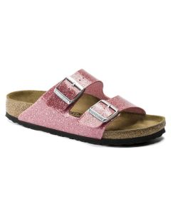 BIRKENSTOCK Arizona Birko-Flor Women's Regular Width Sandals in Cosmic Sparkle Old Rose