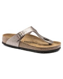 BIRKENSTOCK Gizeh Birko-Flor Women's Regular Width Sandals in Graceful Taupe