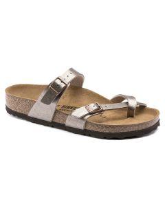 BIRKENSTOCK Mayari Birko-Flor Women's Regular Width Sandals in Graceful Taupe