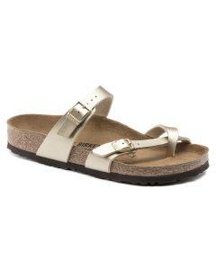 BIRKENSTOCK Mayari Birko-Flor Women's Regular Width Sandals in Gold