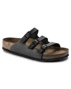 BIRKENSTOCK Florida Fresh Birko-Flor Women's Regular Width Sandals in Pull Up Anthracite