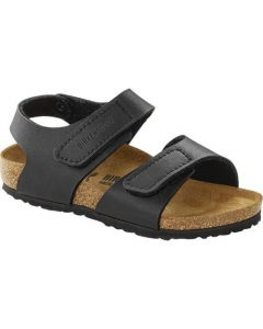 BIRKENSTOCK Palu Birko-Flor Kids Regular Width Sandals in Black