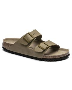 BIRKENSTOCK Arizona Birko-Flor Unisex Regular Width Sandals in Desert Soil Mud Green