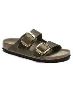 BIRKENSTOCK Arizona Big Buckle Oiled Leather Women's Regular Width Sandals in Jade