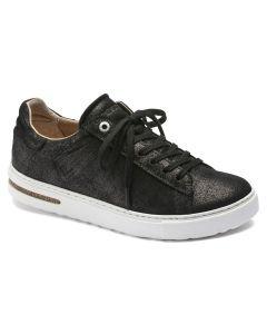 BIRKENSTOCK Bend Suede Leather Unisex Regular Width Sneakers in Metallic Black