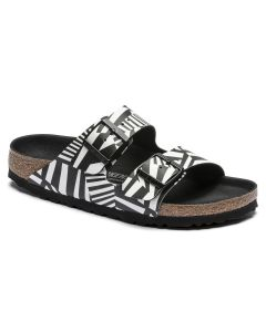 BIRKENSTOCK Arizona Birko-Flor Women's Regular Width Sandals in Dazzle Camo Black White