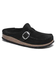 BIRKENSTOCK Buckley Suede Leather Women's Regular Width Sandals in Black