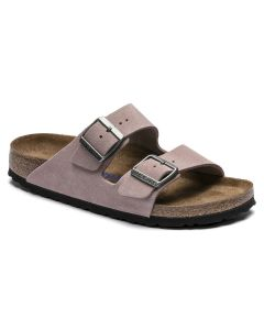 BIRKENSTOCK Arizona Suede Leather Women's Regular Width Sandals in Lavendar Blush