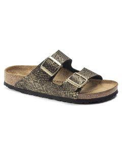 BIRKENSTOCK Arizona Micro Fibre Women's Regular Width Sandals in Shiny Python Black
