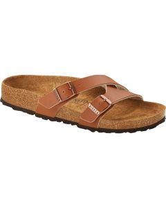 BIRKENSTOCK Yao Birko-Flor Unisex Regular Width Sandals in Ginger Brown