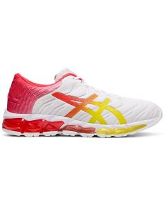 ASICS GEL-QUANTUM 360 5 Women's Sportstyle Shoe in White/Sour Yuzu