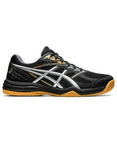ASICS UPCOURT 4 Men's Volleyball Shoe in Black/Pure Silver